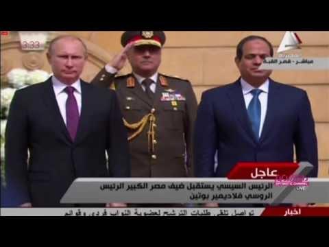 Военный оркестр Египта исполнил Гимн России