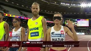 Niewidoma JOANNA MAZUR Złoty Medal w biegu na 1500m!!! T11 London World Para Ath. niesamowity triumf