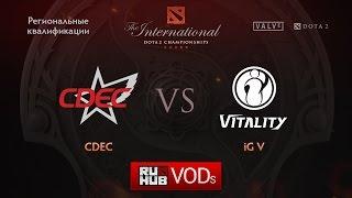 CDEC vs iG.V, game 1