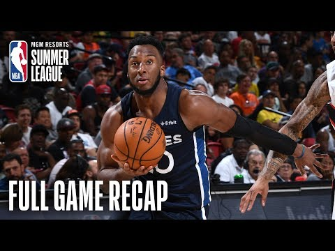 Video: TIMBERWOLVES vs HAWKS | Timberwolves Stay Undefeated | MGM Resorts NBA Summer League