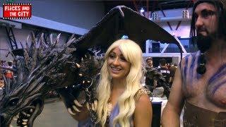 Game of Thrones Daenerys Targaryen, Mother of Dragons, & Khal Drogo show off their incredible dragon creation at London Film...