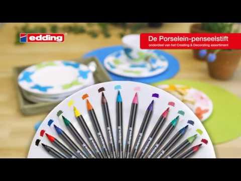 Edding 4200 porselein penseelstift tutorial