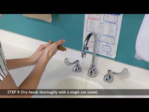 Hand-washing Steps Using the WHO Technique