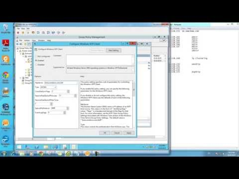 NTP client by DC group policy (видео)