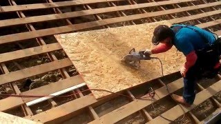 Install Plwood Sheathing