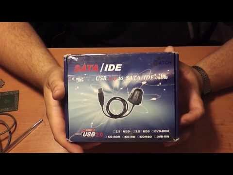 USB 2.0 to IDE SATA 2.5 3.5 Hard Drive Converter Cable with Power Adapter - Обзор