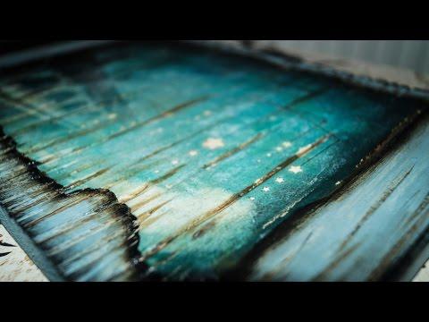 decoupage - come trasferire un immagine su una superficie in legno