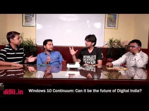 [Hindi - हिन्दी] Digit Talks - Windows 10 Continuum (Future of Digital India) | Digit.in