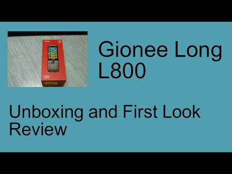 [Hindi] Gionee Long L800 Unboxing And First Look Review