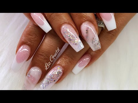 SWEET PINK ACRYLIC NAILS  GIRLIE NAILS