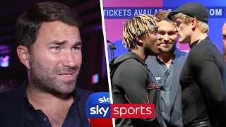 Eddie Hearn responds to the criticism from boxing fans towards KSI vs Logan Paul II