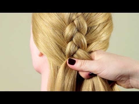 Французская коса обратная basic french braid