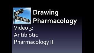 Drawing Pharmacology Video 5 (Antibiotics II)