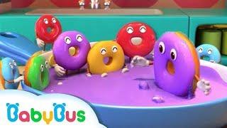 Diez Donas Coloridas | Canción Infantil | Aprender Colores | BabyBus Español