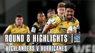 Highlanders v Hurricanes Rd.8 2019 Super rugby video highlights | Super Rugby Video Highlights