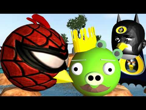 Super Hero - FOLLOW ANGRY BIRDS 3D ON FACEBOOK ☺ : http://www.facebook.com/FunVideoTV A 3D Animation of the ANGRY BIRDS as SUPER HEROES trying to get the pigs. Spiderman ...
