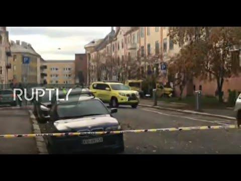 Video - Όσλο : Πάνω σε οικογένεια έπεσε το κλεμμένο ασθενοφόρο - Δύο μωρά ανάμεσα στους τραυματίες