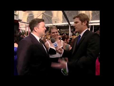 Jamie Kaler interviews Ricky Gervais at SAG Awards