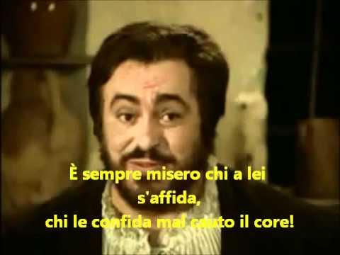 La donna e mobile Pavarotti lyrics