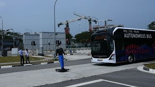 Driverless electric bus trialled in Singapore