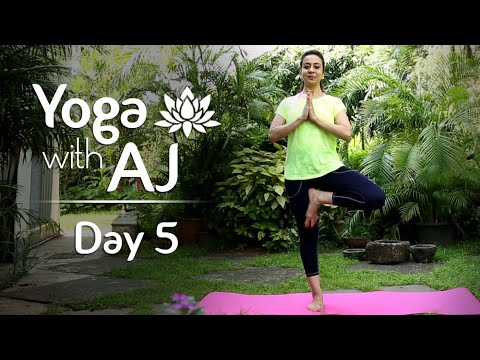 Yoga For Balance And Strength | Day 5 | Yoga For Beginners – Yoga With AJ