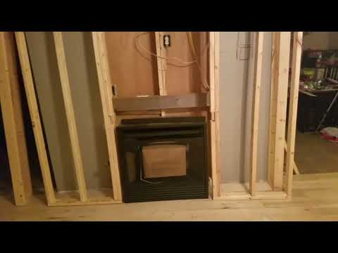 Gas fireplace insert installation: Framing a wall for a gas heater