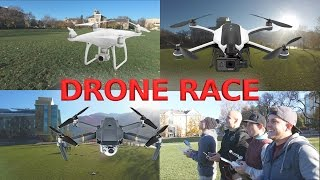 Its time to race the GoPro Karma against the DJI Mavic AND the super fast Phantom 4. This race will take into account the top speed of each drone AND the ...