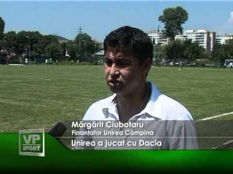 Unirea Câmpina a jucat cu Dacia Mioveni