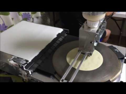 Auto crepe machine 8inches test