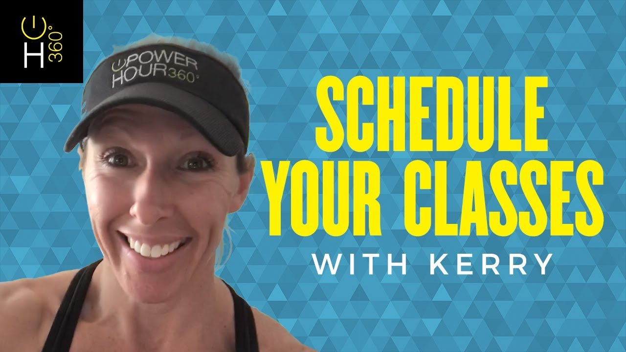 Schedule Your Classes with Kerry