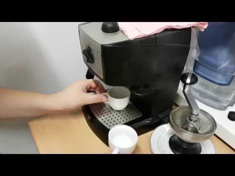 Espresso macchiato with DeLonghi EC 156B :)