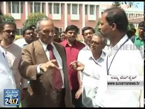 KS Nisar ahmed gheraoed in mysore jss college for clarification of his statement