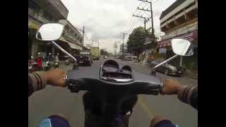 8. VESpa S150 3Vie 2013 Edition Riding in Town Test Drive