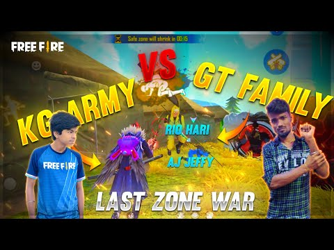 GT Family😻 Vs KG Army🤩 Pongal Cup Last Zone War🔥 || Free Fire Pongal Cup Highlights