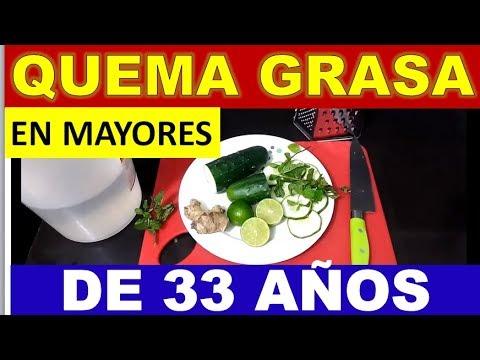 Dieta para bajar de peso - QUEMA GRASA EN MAYORES DE 33 AÑOS / PARA MUJERES Y HOMBRES