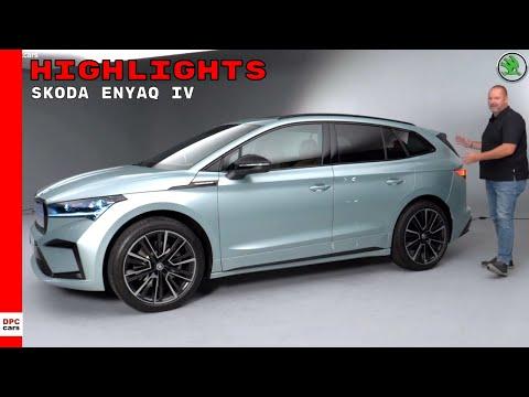 Electric 2021 SKODA ENYAQ iV SUV Highlights
