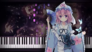 Download Lagu [Piano Solo] Touhou 13 - Night Sakura of Dead Spirits | Synthesia Tutorial | Arrangement Mp3