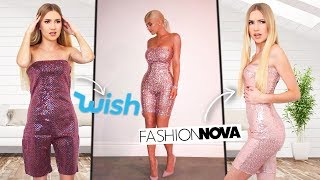 Which Brand Recreated Kylie Jenner's Outfits Better? Wish.com VS FashionNova!!