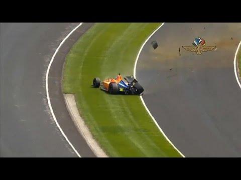 Θεαματικό ατύχημα ο Αλόνσο στο Indy500