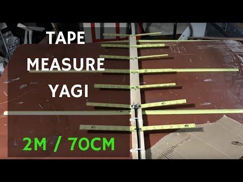 Satellite Yagi 2m 70cm Tape Measure Antenna - Hombrew DIY Cheap - KM6JUR (видео)