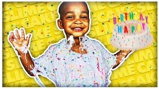 DIY GIANT BIRTHDAY CAKE SLIME | COLORFUL CONFETTI MONSTER SLIME!