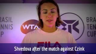 Yaroslava Shvedova comenta primeiro torneio no Brasil em Florianópolis