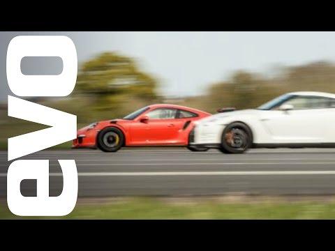 nissan gt-r vs porsche 911 gt3 rs - drag race