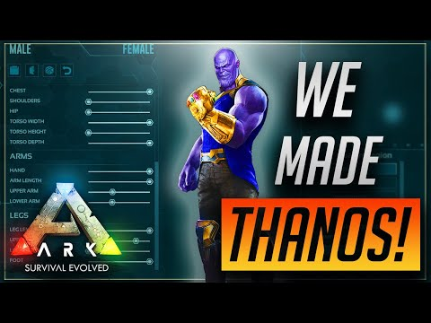 HOW TO MAKE THANOS IN ARK!!! Funniest Ark Survival Evolved Series