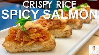 Crispy Rice Spicy Salmon | Gourmet Sushi on the Cheap by Diaries of a Master Sushi Chef