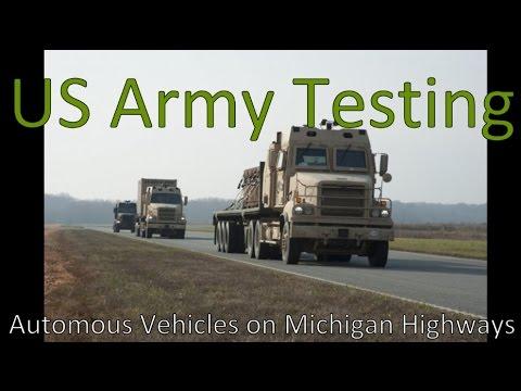 US-Militär: Fahrzeugtests in Michigan