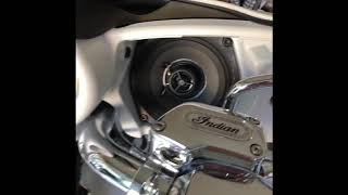9. Before & after Polk audio speaker install on 2017 Indian Chieftain Ltd.