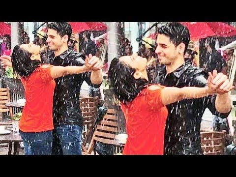 Sidharth Malhotra and Rakul Preet Singh ROMANCING In The Rains