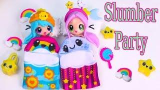Kawaii Crush Sleep Over Day and Night BFF Slumber Party Doll Playset Pack Cute Stars Rainbows