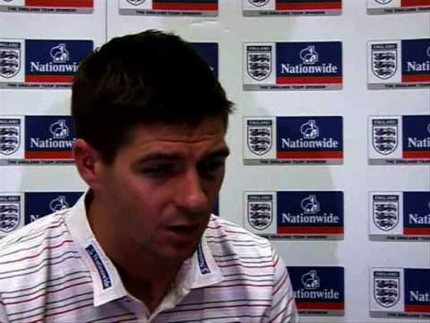 Steven Gerrard talks about England and Liverpool